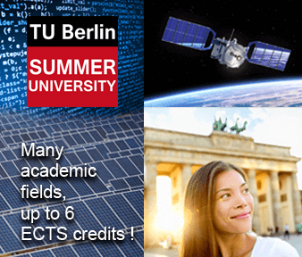 Banner about the TU Berlin Summer University - Germany